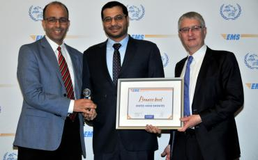 EMS UAE receiving their Bronze performance award