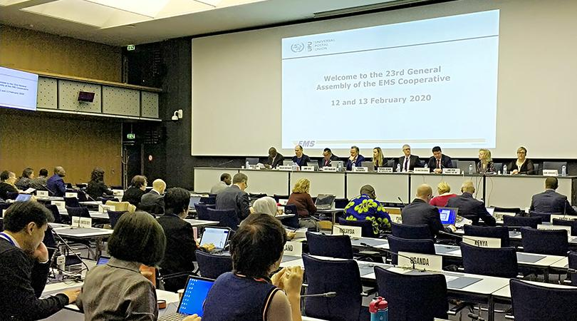 Participants at February 2020 EMS General Assembly