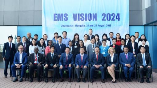 Participants at the 2019 Asia Pacific EMS symposium